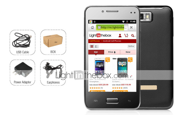 B4000 - 3G Android 2.3 Smartphone with 4.0 Inch Capacitive Touchscreen (Dual SIM, WiFi, TV)