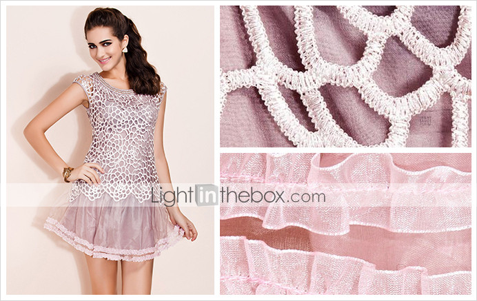 TS Beaded Net Tulle Dress