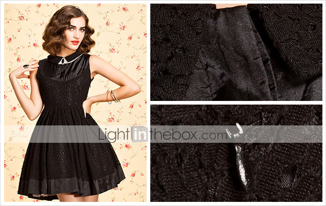 TS VINTAGE Lace Stitched Swing Dress