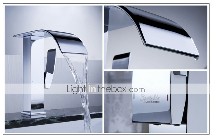 Sprinkle® - da LightInTheBox - contemporaneo bagno rubinetto cascata lavello (finitura cromata)