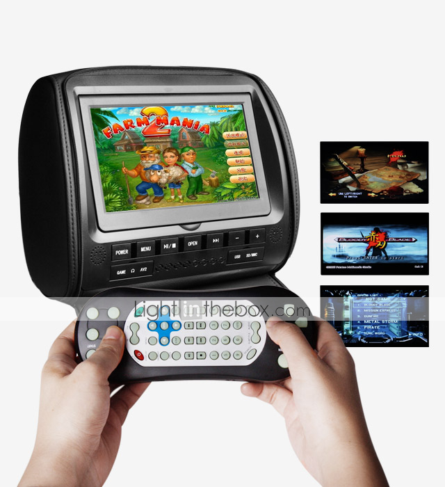 9 Inch Headrest DVD Player with TV, Game