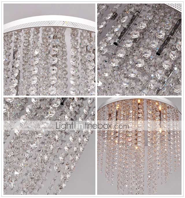 SCUNTHORPE - Lustre Cristal com 6 Lmpadas