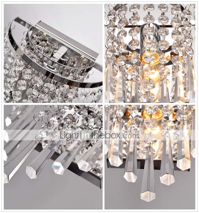 Semi Circular Wall light in Crystal Feature