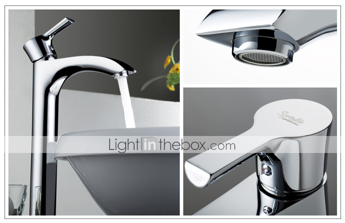 Sprinkle® by Lightinthebox - Centerset Solid Brass Bathroom Sink Faucet (Chrome Finish)