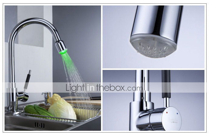 Sprinkle - par LightInTheBox - Robinet de cuisine en laiton massif de couleur claire men changer