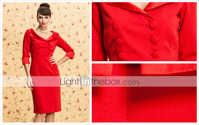 TS VINTAGE Double Breast Dress