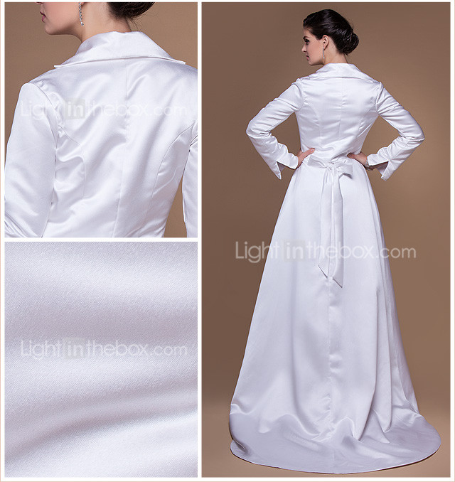 Long Sleeve Satin Special Occasion Jacket/Wedding Wrap(More Colors)