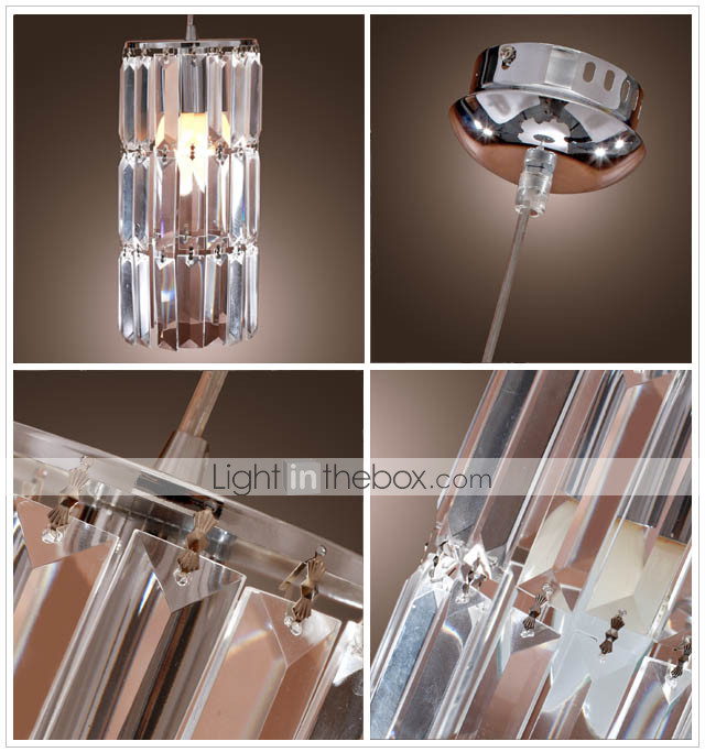 Lámpara Chandelier Contemporánea de Cristal Cromada - COLLEYVILLE