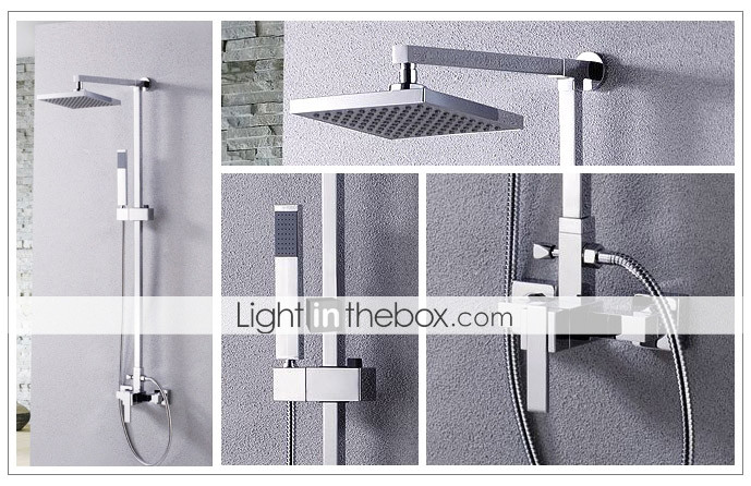 Elegant Shower Faucet with 8 inch Shower head + Hand Shower