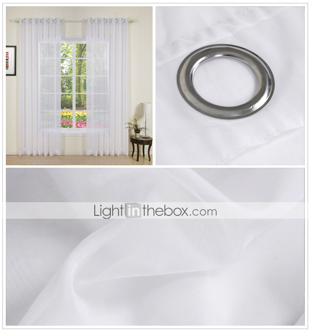 (Two Panels) Enoch Contemporary Sheer Curtains