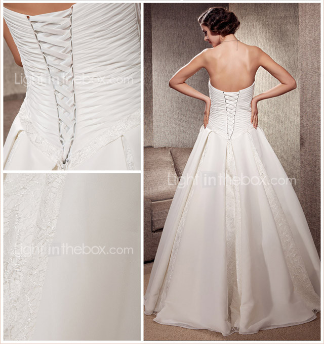 Exquisite Floor-length Chiffon Lace Wedding Dress