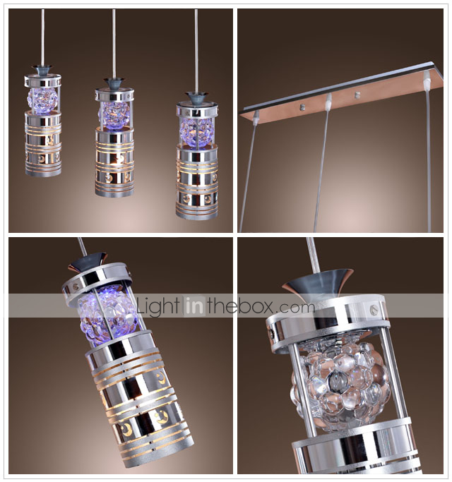 MARIGNANE - Lustre Cristal com 3 Lmpadas