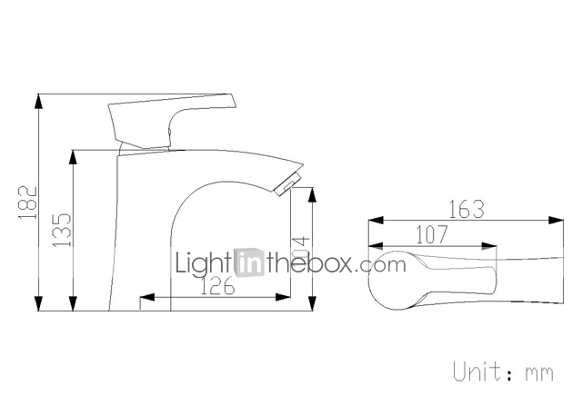 Sprinkle® - ved lightinthebox - moderne massiv messing bathroom sink tappekran (krom)