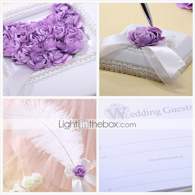 lilas rose coeur scnographie collection de mariage (4 pices)