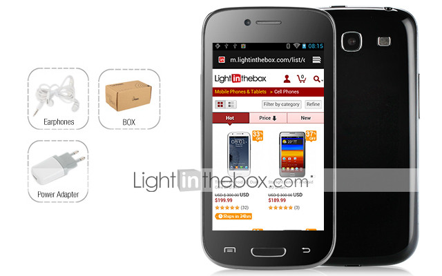 I699 MT6575 1GHz Android 4,1 Dual Card 4.0Inch Kapacitive Touchscreen Cell Phone (TV WIFI FM)