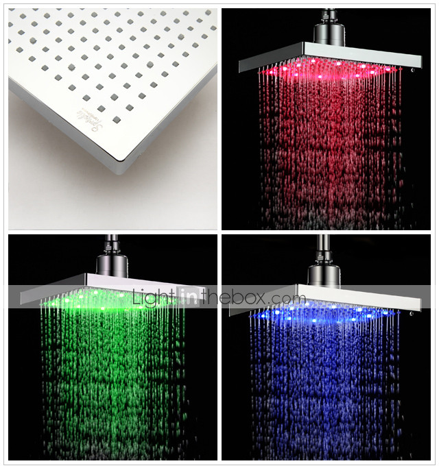 Sprinkle® by Lightinthebox - 8 inch Brass Shower Head with Color Changing LED Light