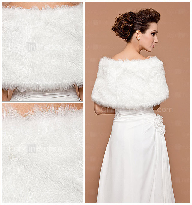 Faux Fur Special Occasion/ Wedding Shawl (More Colors)