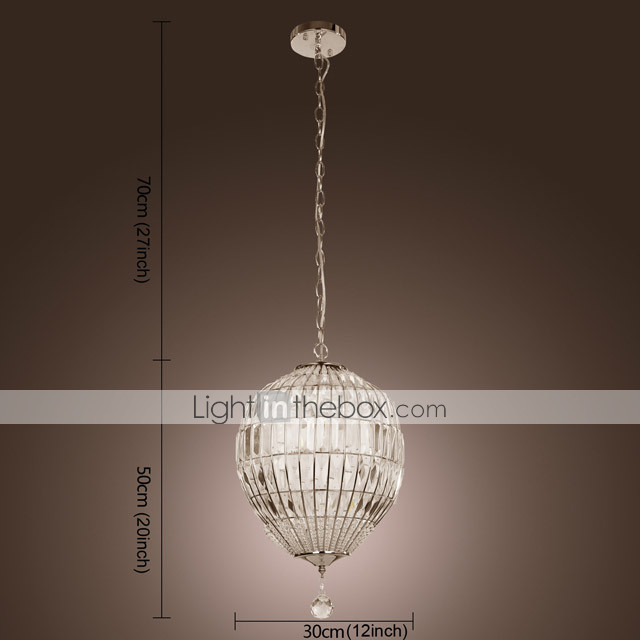 Crystal Pendant Light with 1 Light