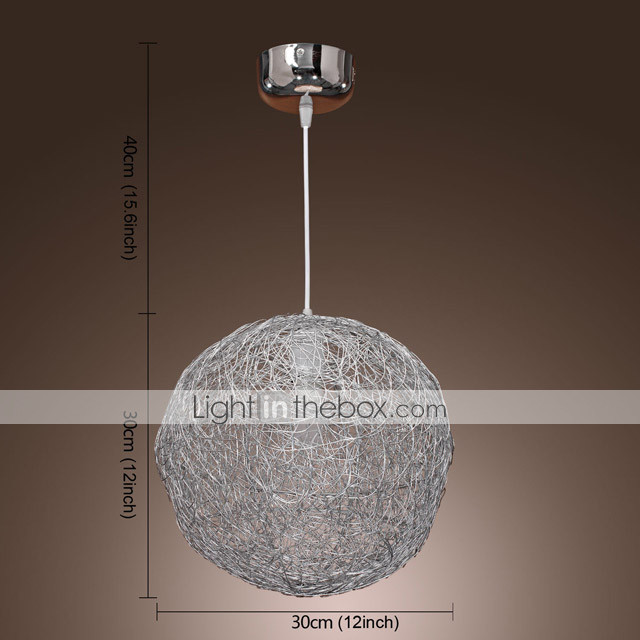 Pendant Light with 1 Light in Ball Shape