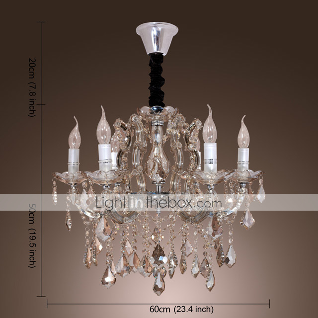 Luxury Crystal Chandelier with 6 Lights