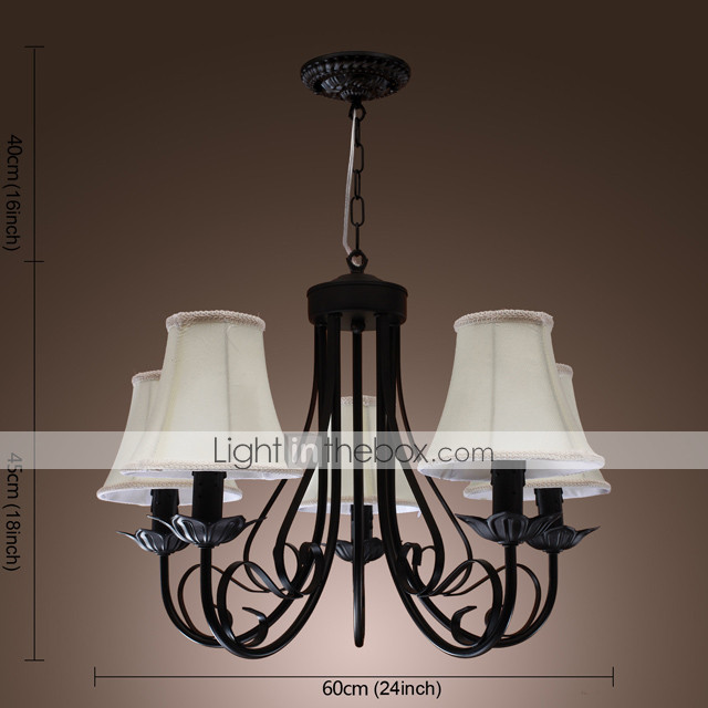 Chandelier with 5 Lights in Antique Style