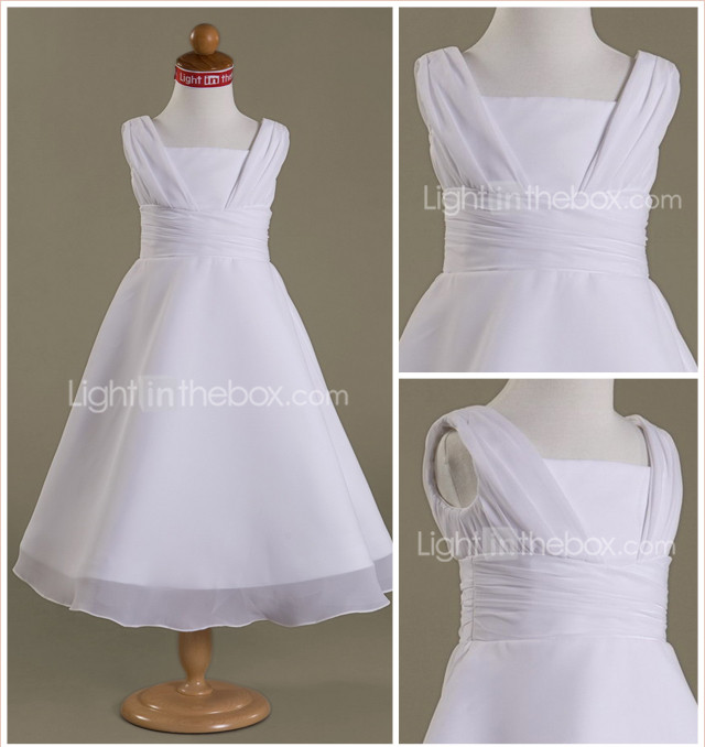 LAIA - Robe de Communion Mousseline Satin