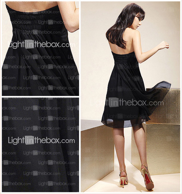 Empire Sweetheart Knee-length Chiffon Over Mading Bridesmaid/ Homecoming Dress