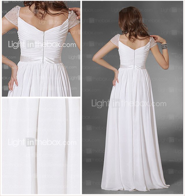 Chiffon A-line Floor-length Evening Dress