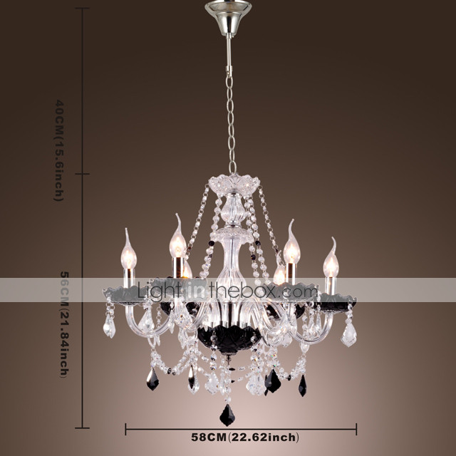 STARK - Lustre Vela Cristal com 8 Lmpadas