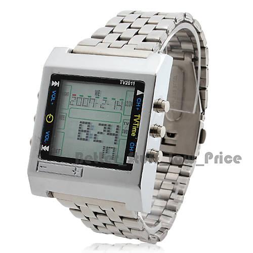 Мужские цифровые автоматические наручные часы с функцией дистанционного управления (серебро