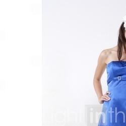 A-line Strapless Knee-length Satin Bridesmaid/ Wedding Party Dress (YCF121) - US$ 49.99