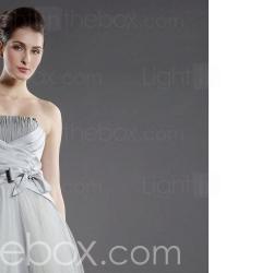 A-line Strapless Floor-length Satin Wedding Dress / Reception Dress (WGY0136) - US$ 189.99