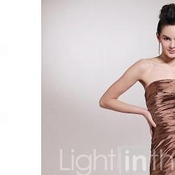 A-line Strapless Floor-length Sleeveless Elastic satin Bridesmaid Dress (FSF0704) - US$ 99.99