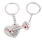 Stainless Lovers keychains (Hearts / 2-Piece Set)