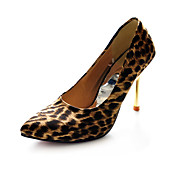 Leatherette Upper Stiletto Heel Pumps With Animal Print Party/ Evening Shoes