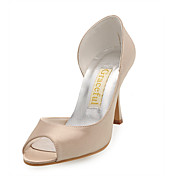 Satin Upper Stiletto Heel Pumps Wedding Shoes More Colors Available