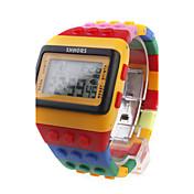 Разноцветные светодиодные часы (желтые)