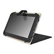 кожаный защитный чехол с регулируемой подставкой для 10-дюймовый Tablet PC - черный