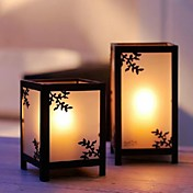 Asian Square Lantern  (Set of 2)