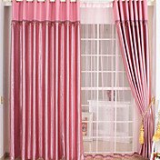 Embossed UV-resistant Energy Saving Curtains (Two Panels)
