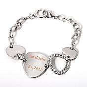 персонализированный браслет серебряную цепочку