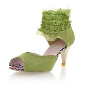 Suede Stiletto Sandals With Ruffles/Stitching Lace For Party / Evening (More Colors)