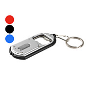Plastic Bottle Opener Keychain LED Flashlight (Assorted Colors)
