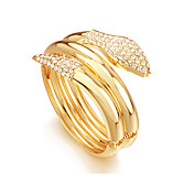 Fashion Plating 18K Gold Simple In Alloy Snake Shape Bracelets