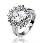 Gorgeous Crystal Platinum Plated The Royal Princess Fashion Ring (More Colors)