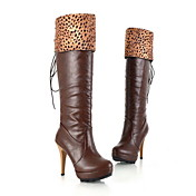 Leatherette Stiletto Heel Platform Knee High Boots Party / Evening Shoes (More Colors)