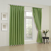 Solid Green Classic Blackout Curtains (Two Panels)