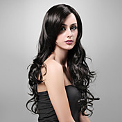Capless Extra Long High Quality Synthetic Natural Look Black Curly Hair Wig