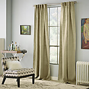 Pastoral Linen Solid Eco-Friendly Curtains (Two Panels)