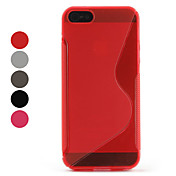 Simple Design TPU Soft Case for iPhone 5 (Assorted Colors)